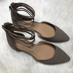 Lucky Brand Women's Madoz Ankle Strap Flats